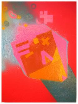 Spray sobre canvas