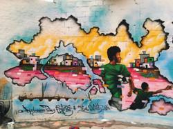 Graffiti com os amigos