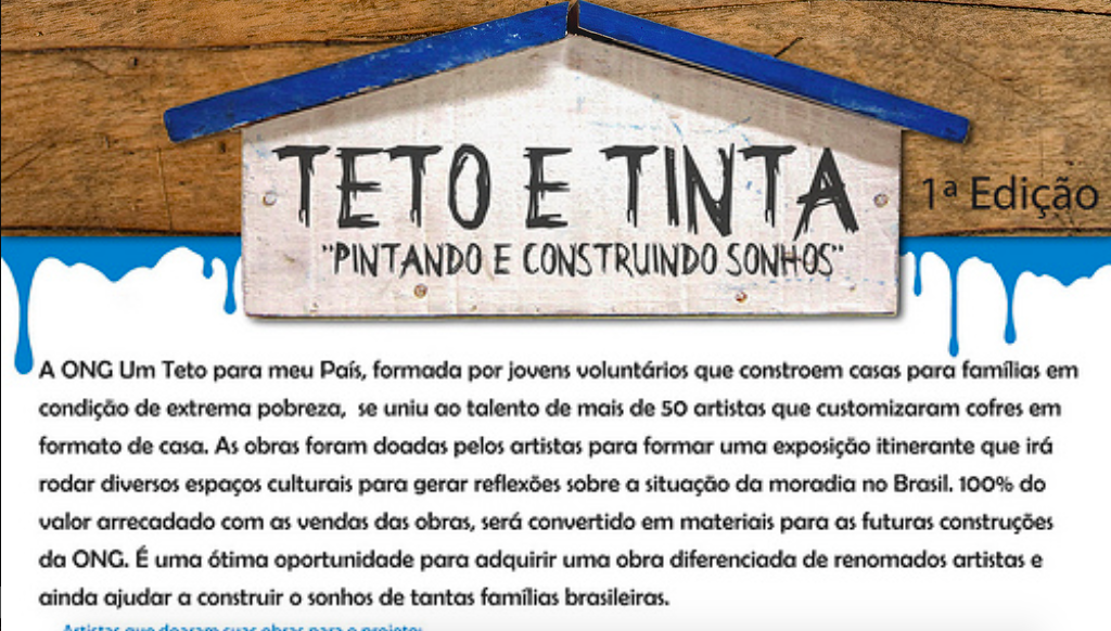 Exposição Teto e Tinta.