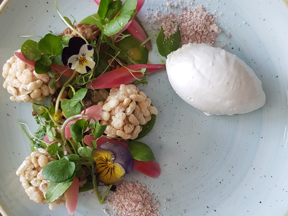 Whipped Goats Cheese / Pickled Rhubarb / Walnut / Watercress