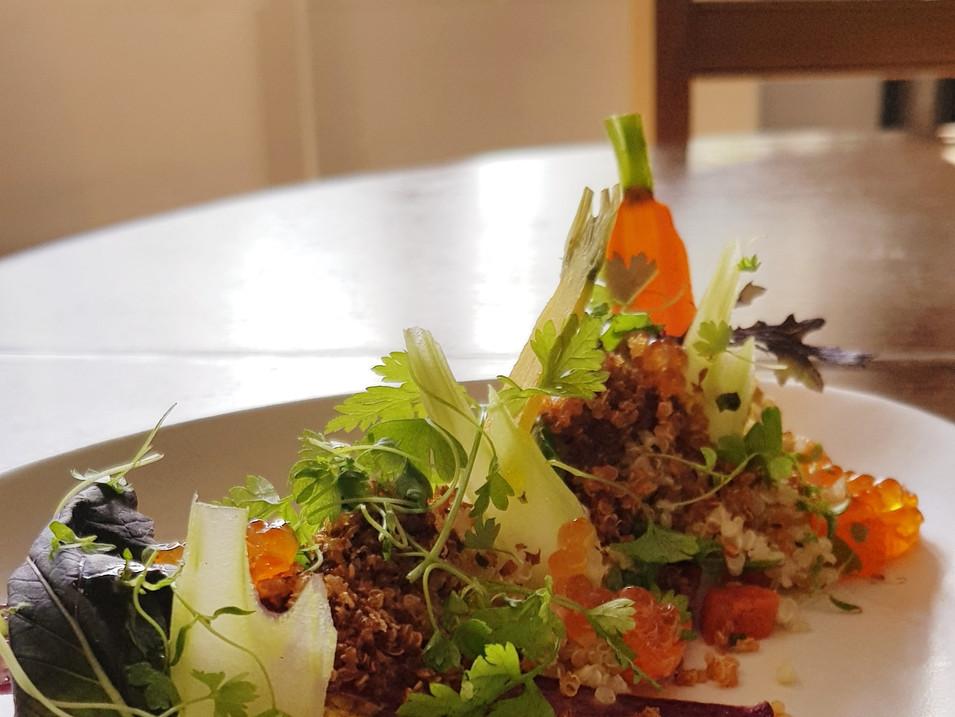 Crab / Celery / Quinoa / Carrot / Caviar