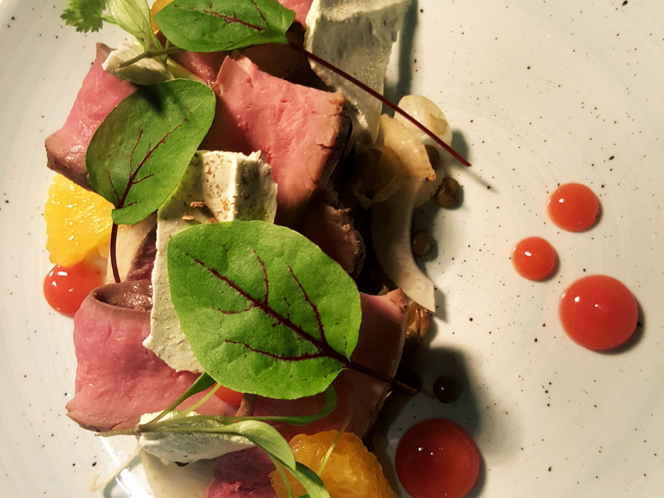 Smoked Duck / Lentils / Fennel / Blood Orange