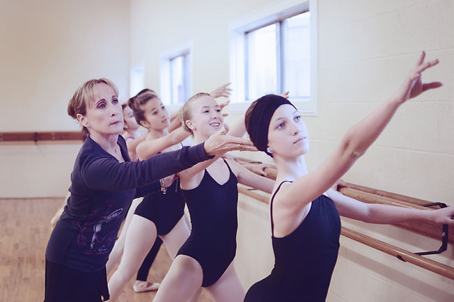Debi with her students - Redding Dance Centre - Image © RDC