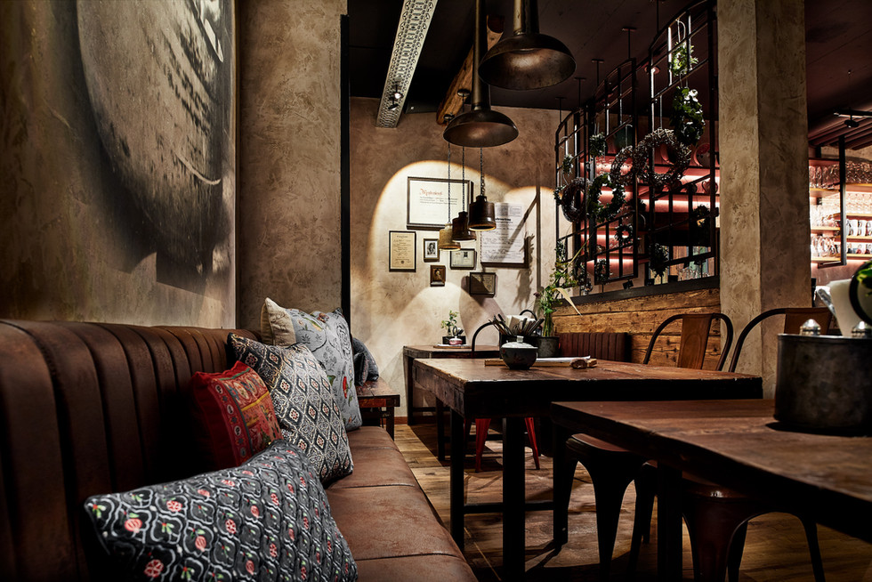 Interior design, Seating area. bakery Cafe Ruhpolding