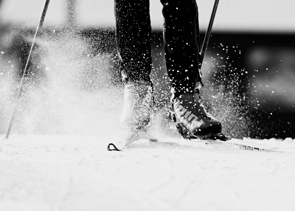 Close up of Cross country skis, sport photographer in Siegsdorf and Rosenheim