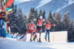 IBU Biathlon final sprint at Antholz in Italy, Simon Eder and Ole Einar