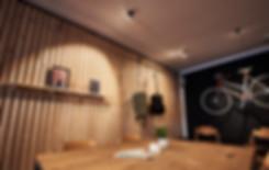 Innenarchitektur und Interior fotografie von Cafe lounge