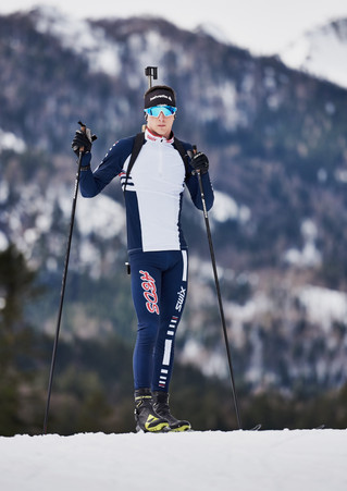 Photoshoot with British Biathlon Development Athlete, Gareth Griffen.