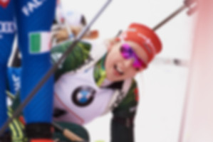Franziska Preuss during the relay race at Ruhpolding World Cup Biathlon