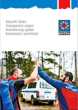 Mountain rescue report of the German Bergwacht, mountain photography of Marcel Laponder