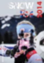 Snow and Ice magazine front cover of biathlete Amanda Lightfoot holding her rifle pre Olympics