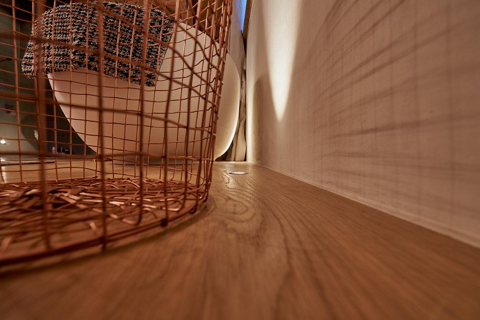 Innenarchitektur Fotogarfie. Interior und Einrichtung von Badezimmer.