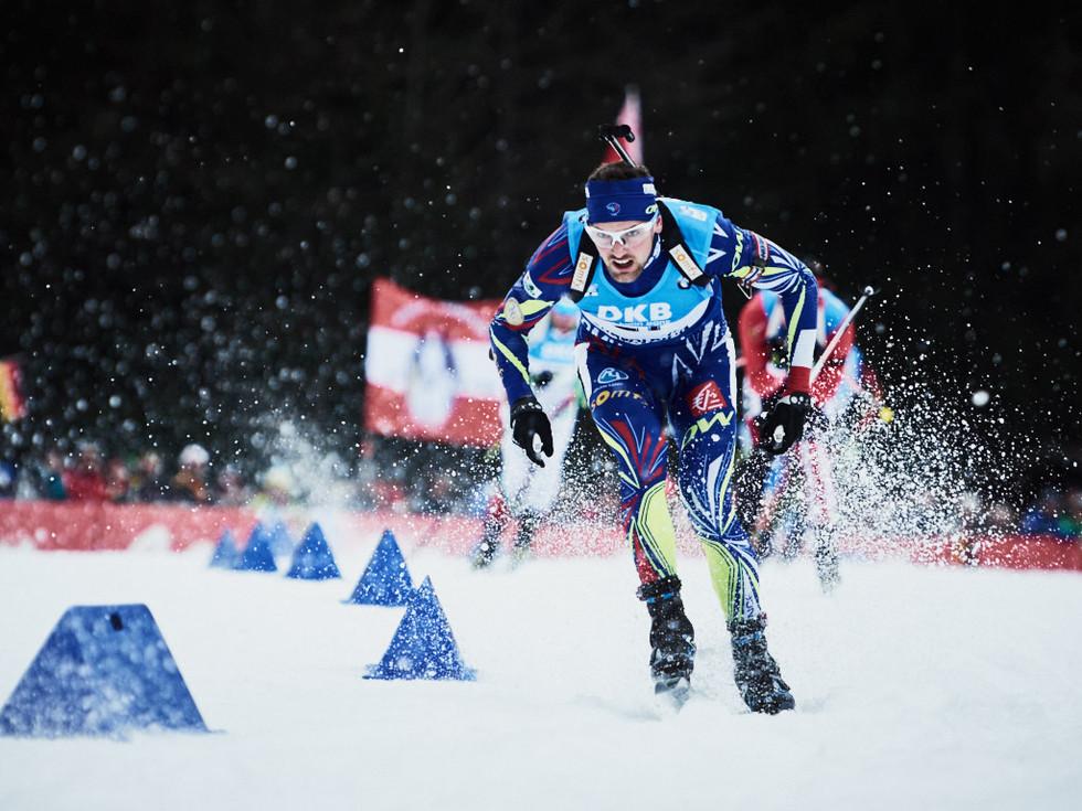 Frankreich Biathlon Wettkampf