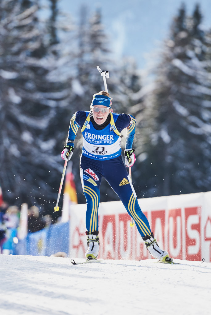 Antholz Biathlon Frauen Wettkampf Ingela Anderson from Sweden