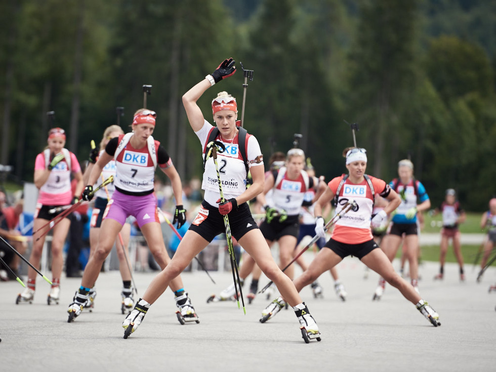 Sommer Biathlon Deutsche Meisterschaft, maren hammerschmidt leading the mass start