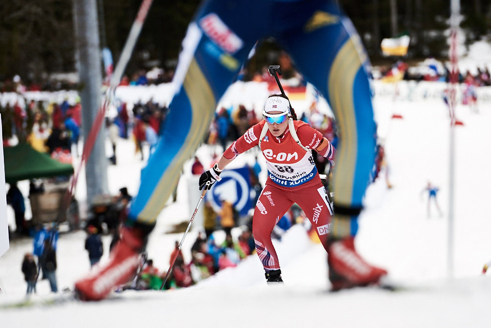 Biathlon world cup IBU photography, Norwegain athlete competing in Ruhpolding