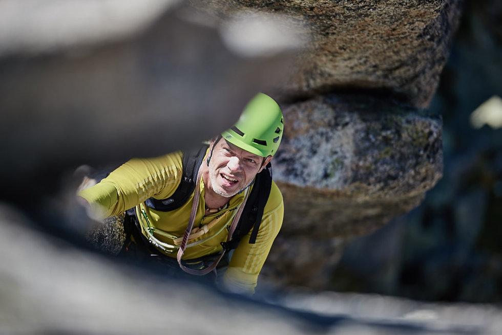 Granit Klettern auf die Salbit, klettern fotograf in Duitschland und Bayern