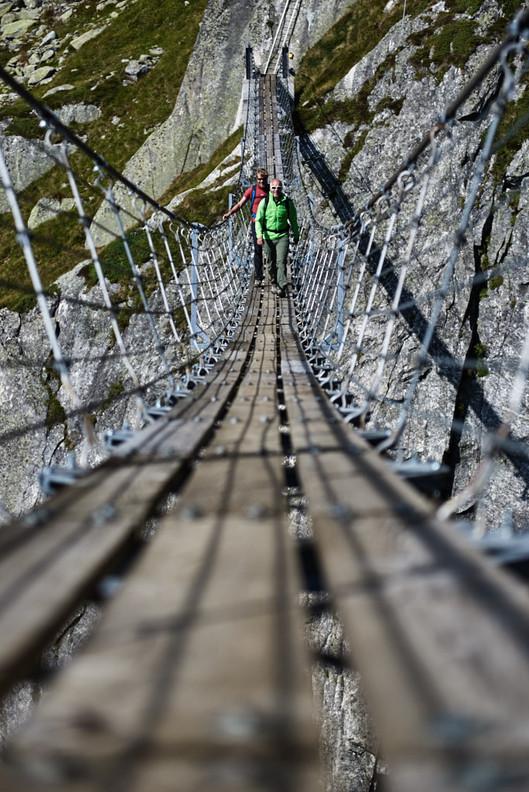 salbitbrücke wanderung Kletter Fotograf in die Berge