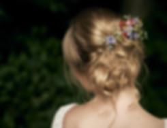 Braut friseur, fotoshooting mit Braut