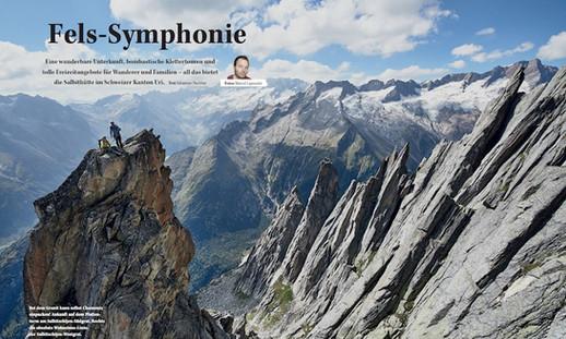 Fels-symphonie Alpine magazin bericht über Salbithütte und Klettern auf die Salbitschijen umgebung
