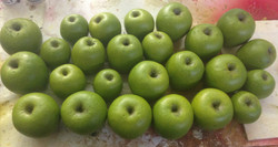 Fabricated green apples
