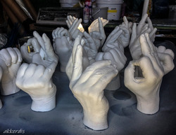 lifecasted hands