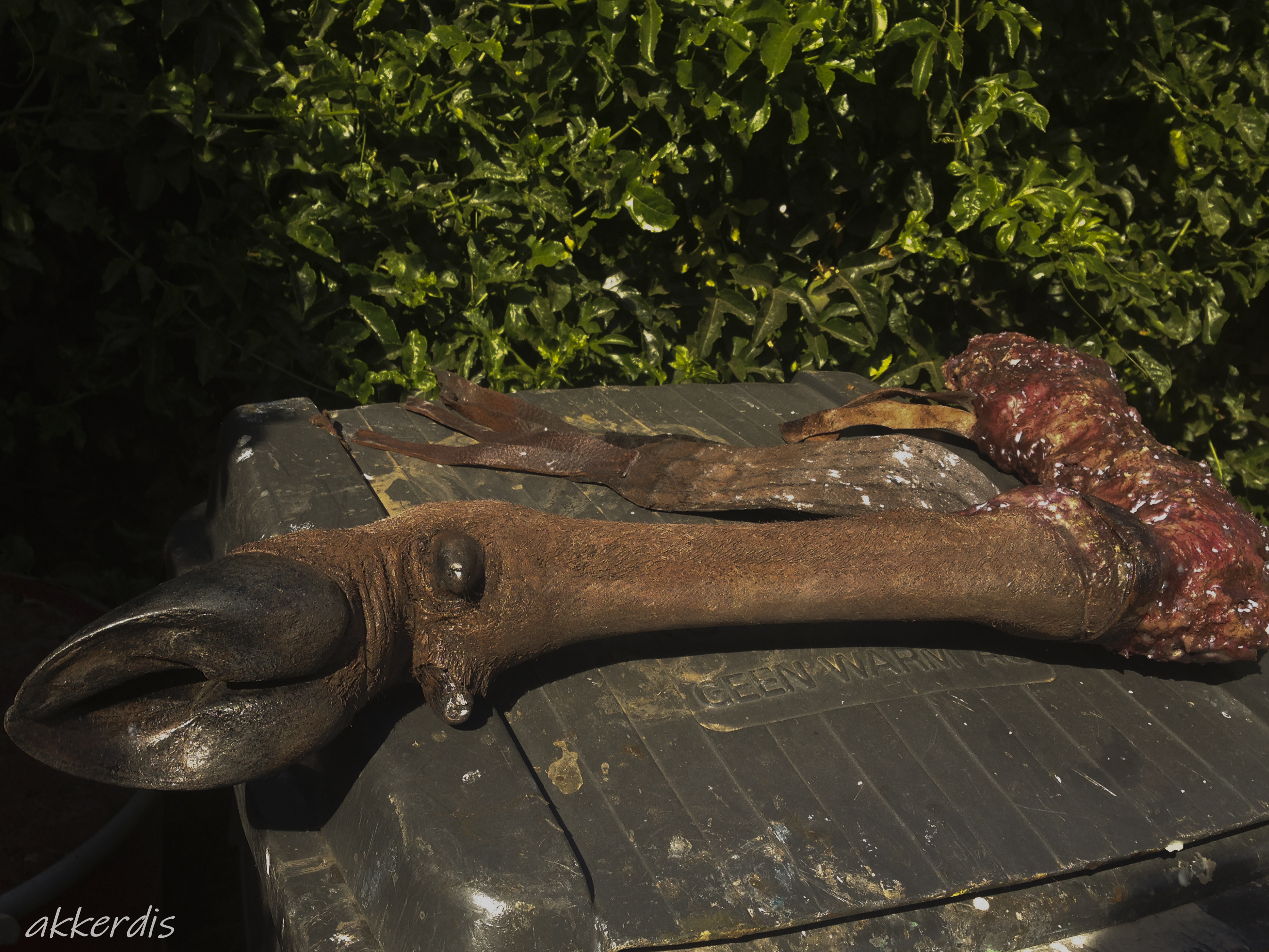 Fabricated animal leg