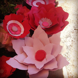 big fiberglass flowers