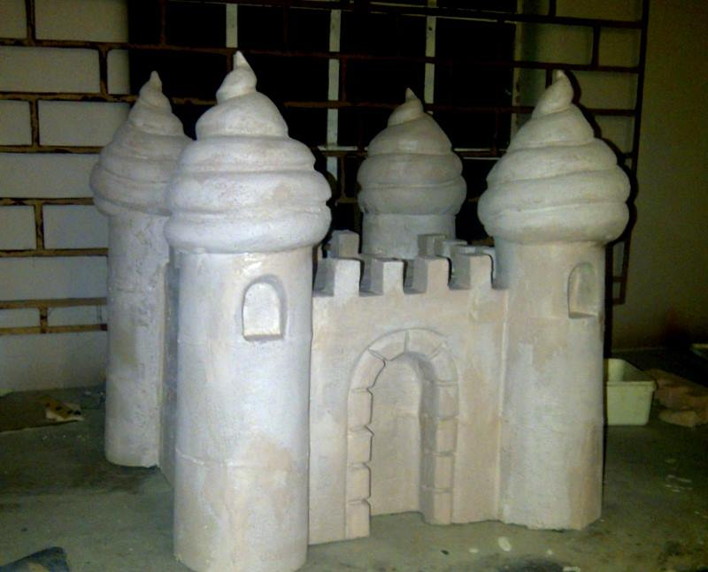 Fabricated sand castle