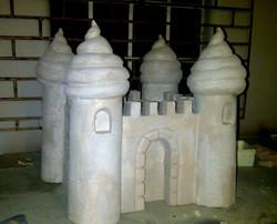 Fabricated sand castle