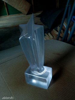 Clear cast trophy