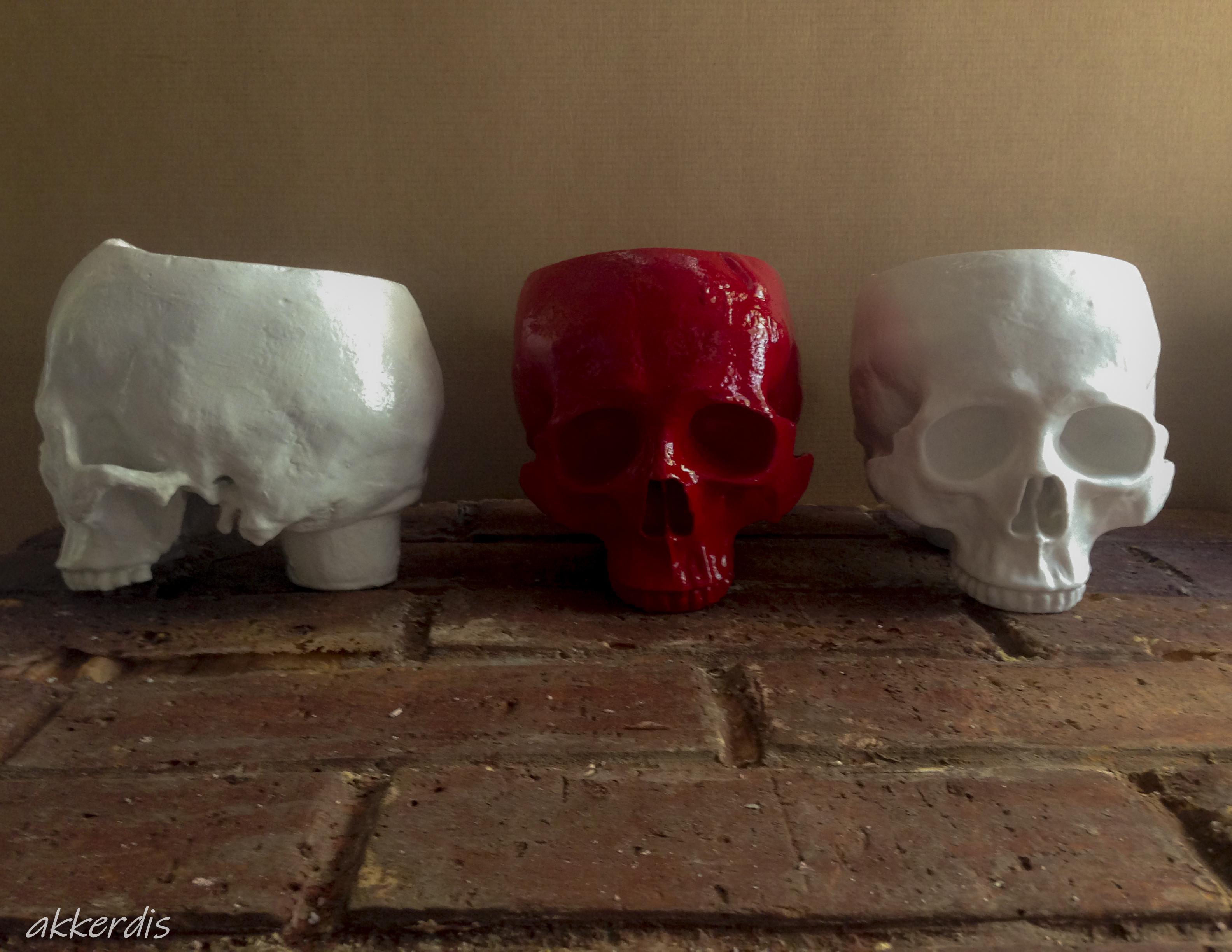 human skull planters