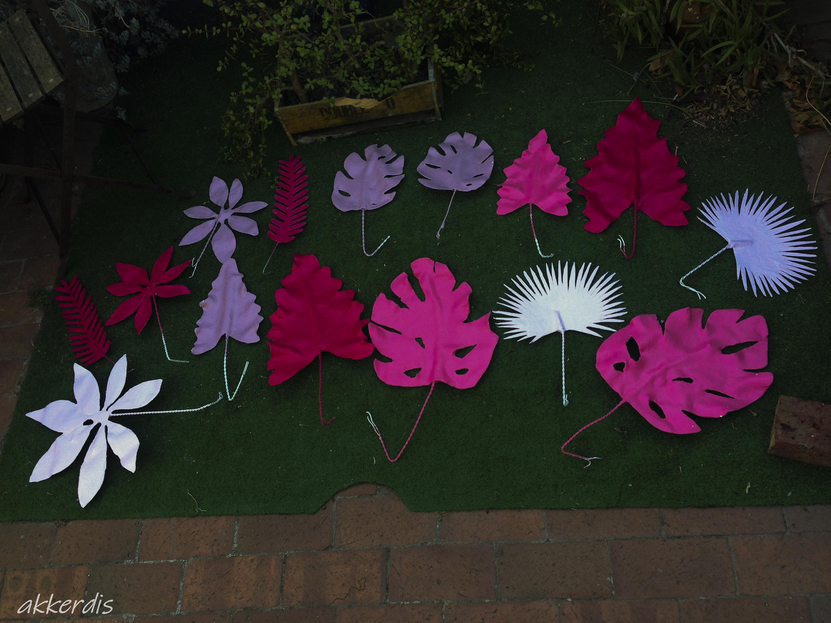 Fiberglass leaves
