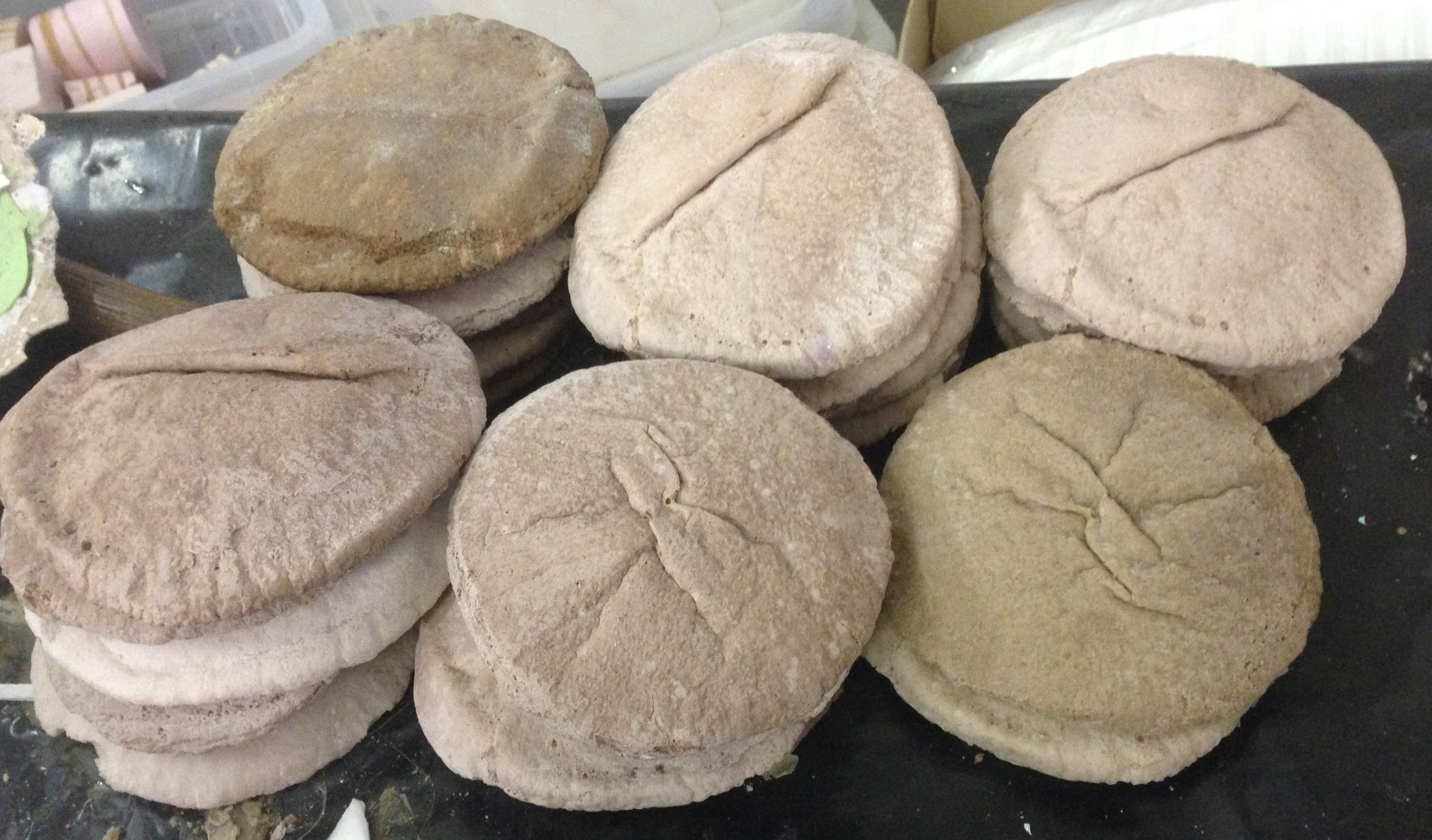 Fabricated pita bread