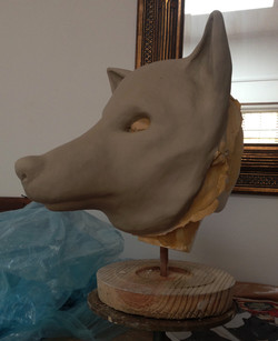 Sculpt of wolf character