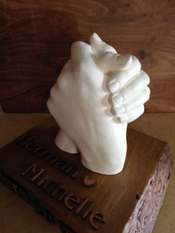 Life casted hand sculpture