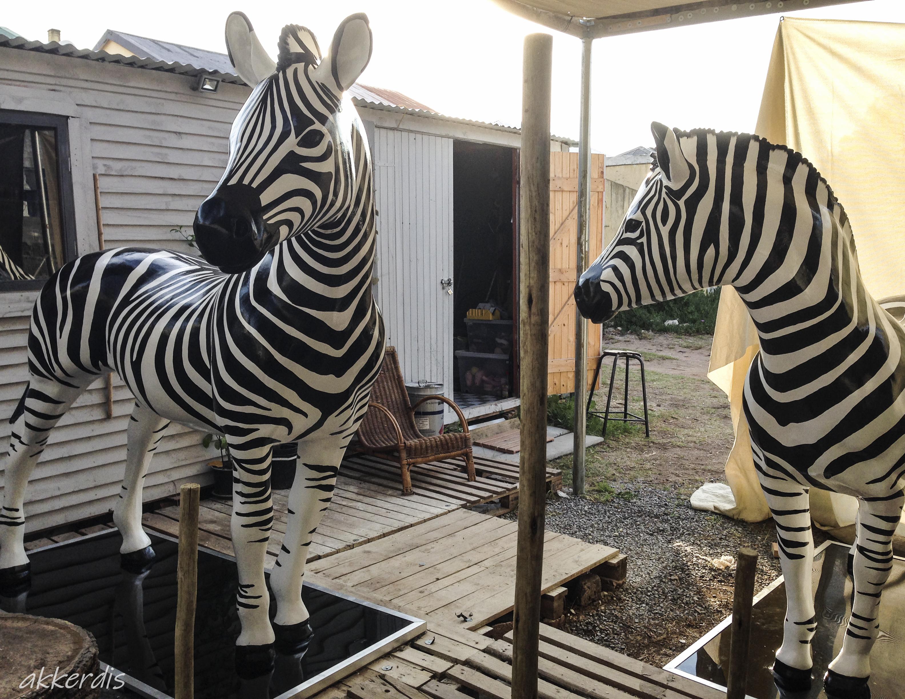 fabricated zebras
