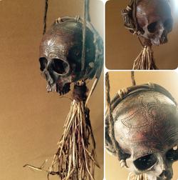 dayak tribal skull