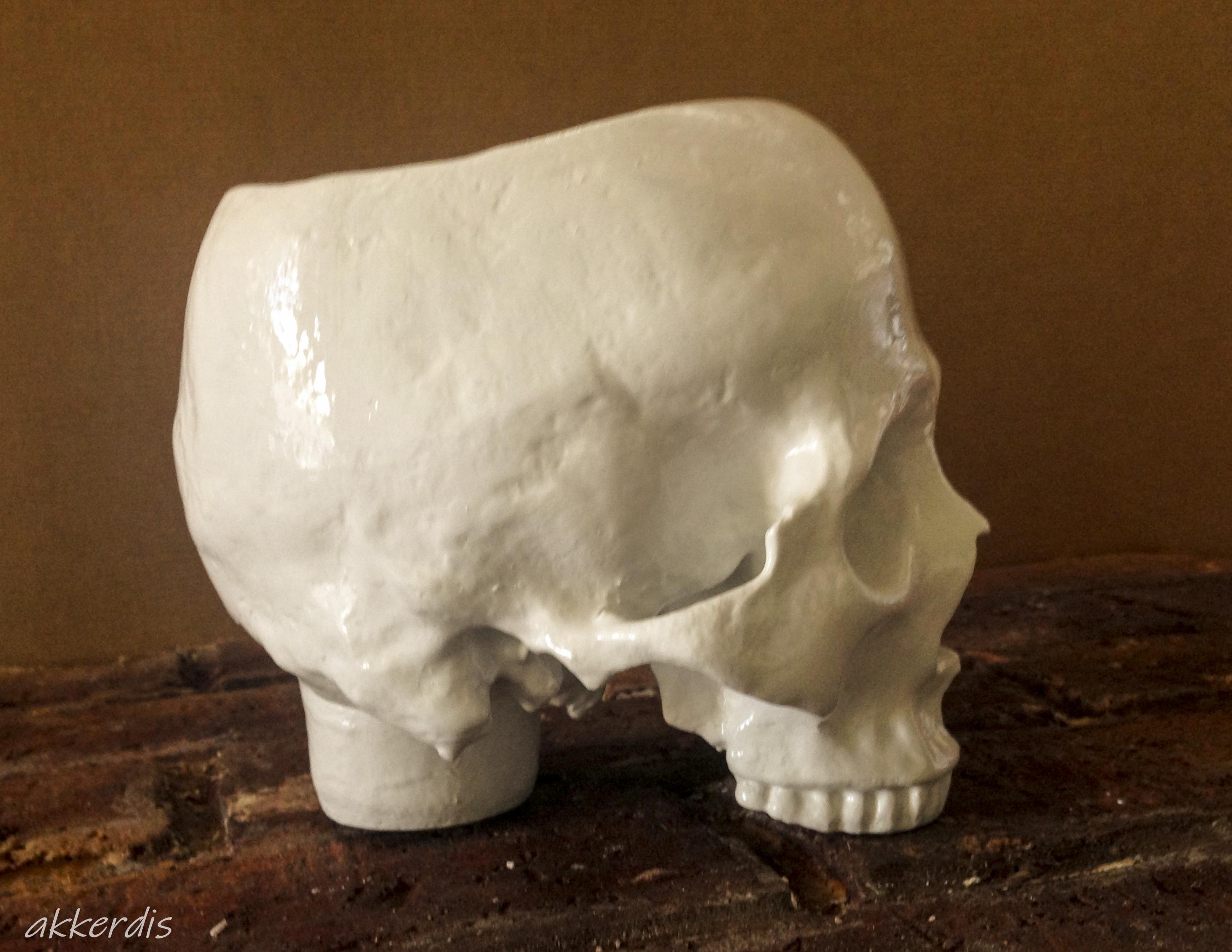 planter human skull