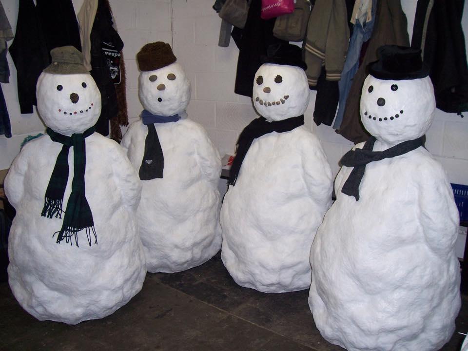 fabricated snowmen