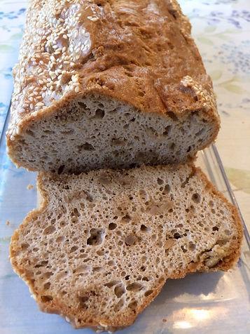 מתכון לחם טחינה ללא גלוטן