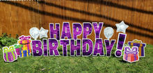 purple bday with stars and gifts
