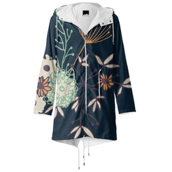 night flowers - raincoat by Concetta Lor