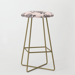 butterfly and flowers bar stool