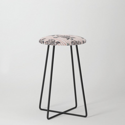 butterfly and flowers counter stool
