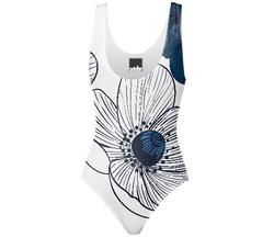 blue anemone swimsuit design Concetta Lorenzo for PAOM
