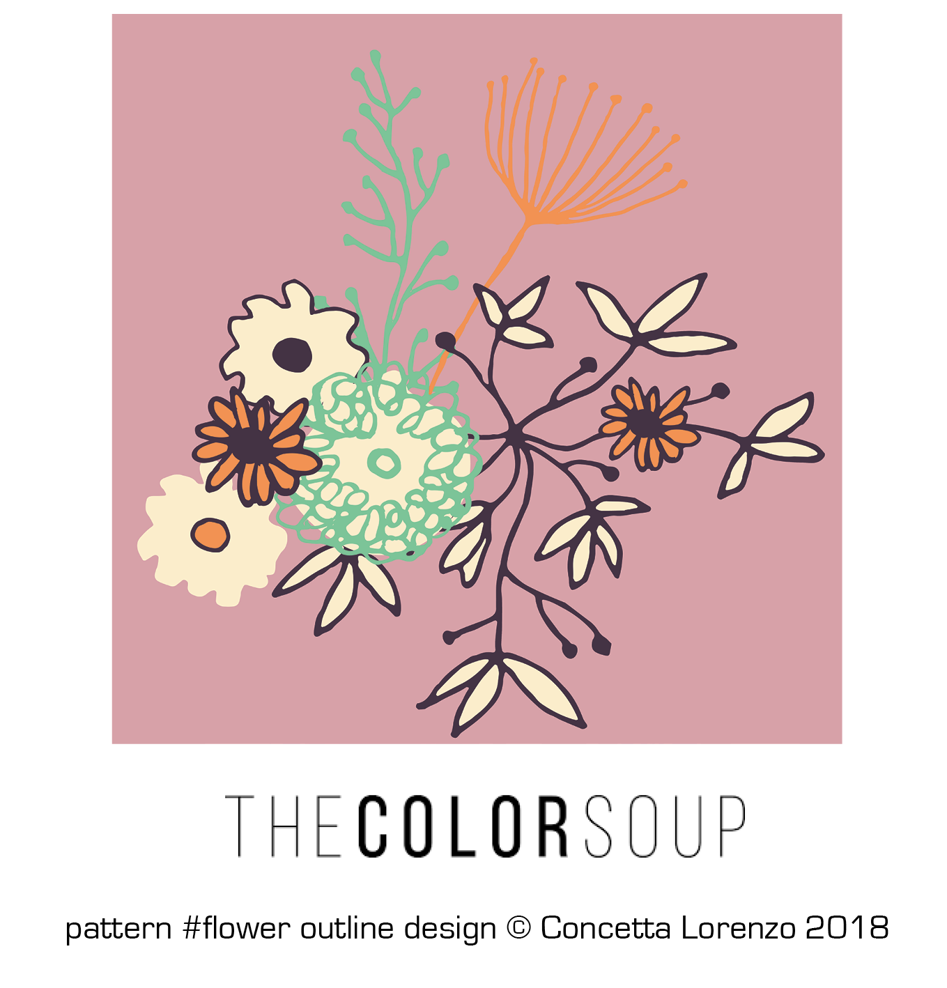 flower outline design