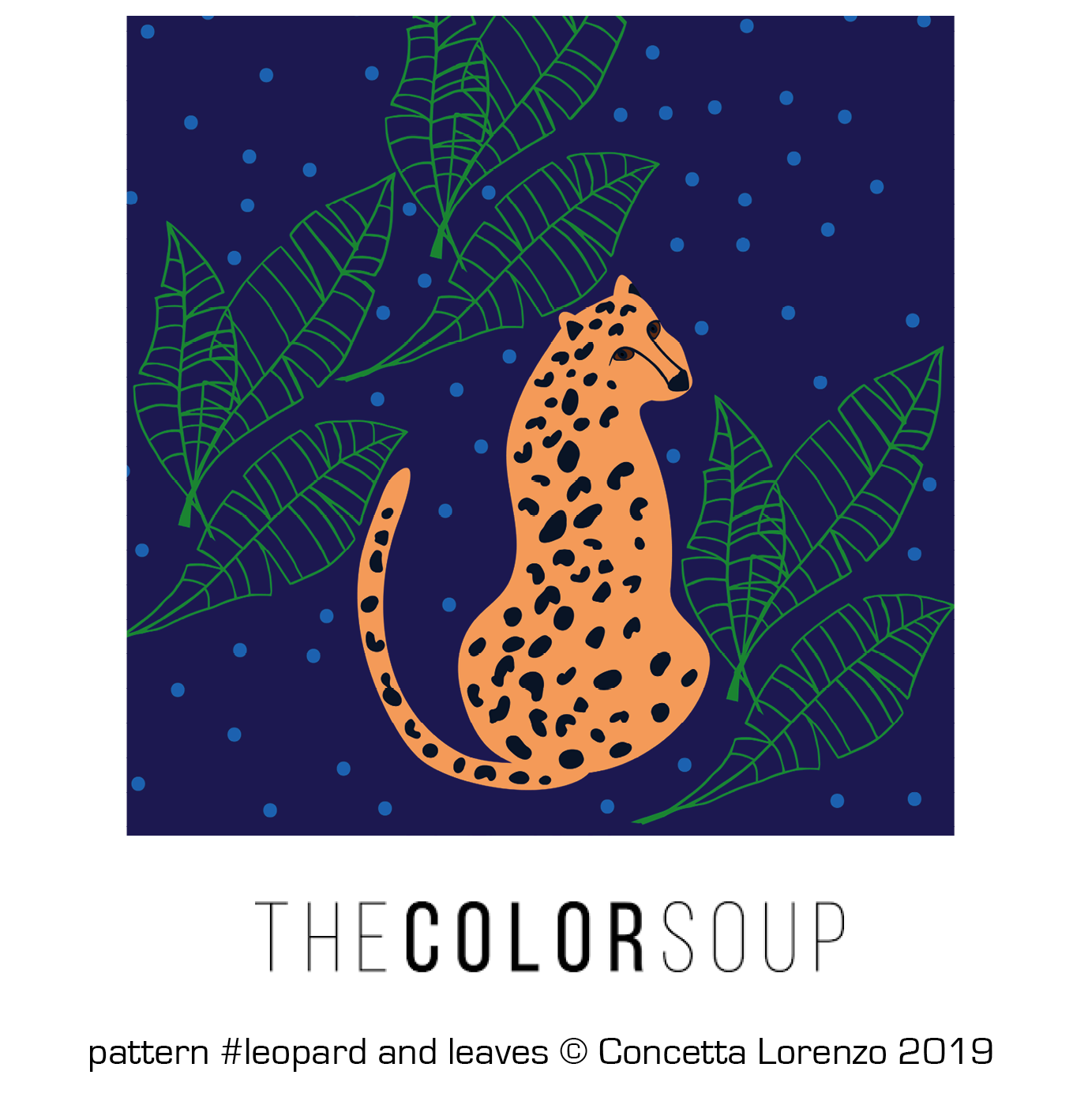 leopard and leaves
