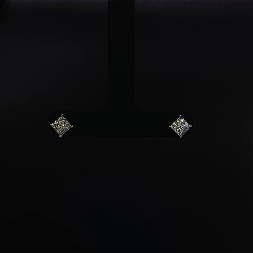 Diamond Earrings 18K White Gold