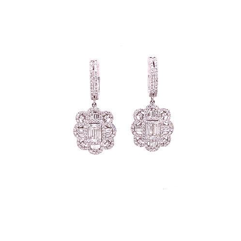 Diamond Earrings 18K White Gold